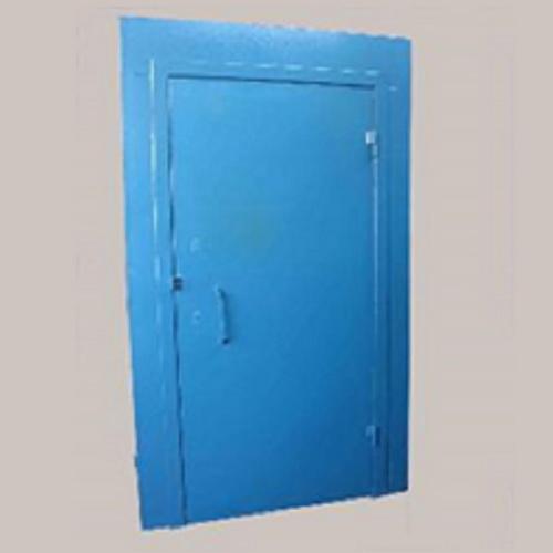 металлическая дверь синяя